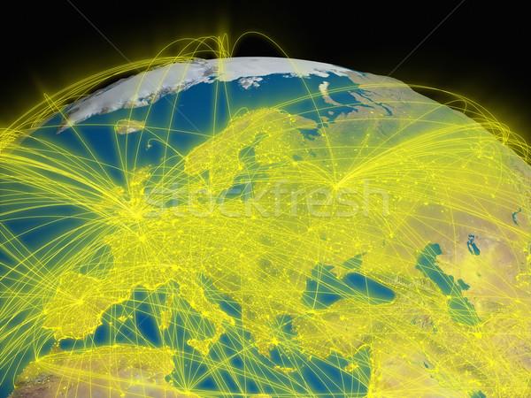 Interconnected Europe Stock photo © Harlekino