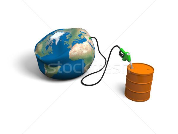 Oil depletion Stock photo © Harlekino