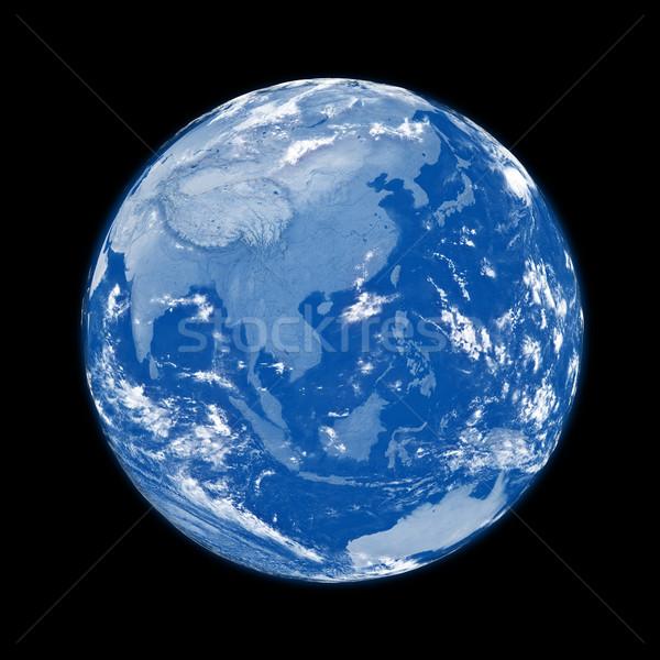 東南アジア 青 地球 地球 孤立した 黒 ストックフォト © Harlekino