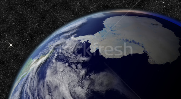 Antarctica from space Stock photo © Harlekino