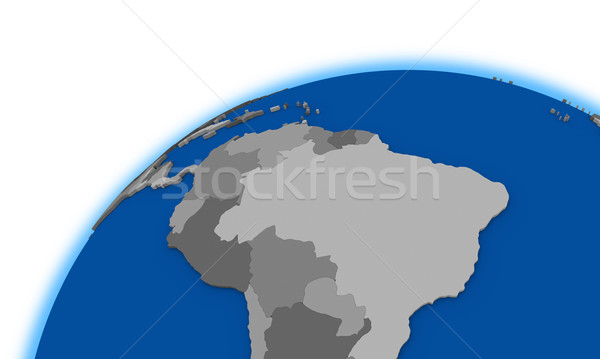 Güney amerika dünya siyasi harita gezegen Brezilya Stok fotoğraf © Harlekino