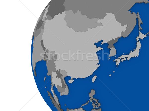 Asia region polityczny świecie ilustracja kontynent Zdjęcia stock © Harlekino
