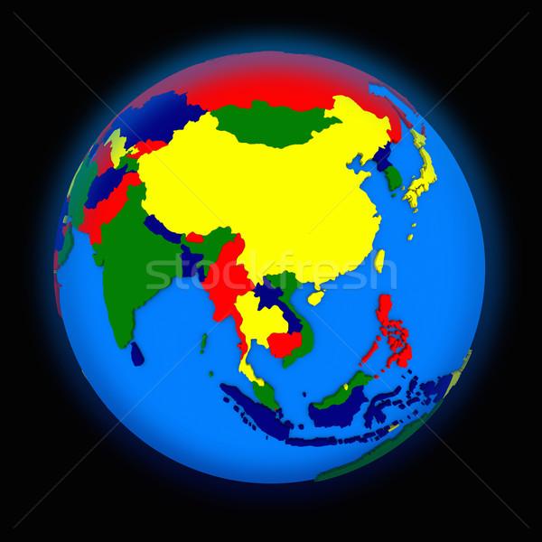 southeast Asia on political Earth Stock photo © Harlekino
