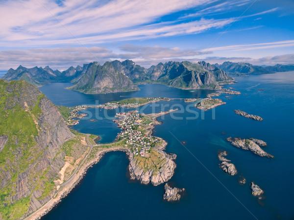 Reine in Norway Stock photo © Harlekino