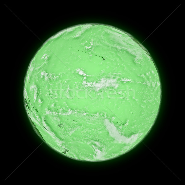 Pacific Ocean on green planet Earth Stock photo © Harlekino