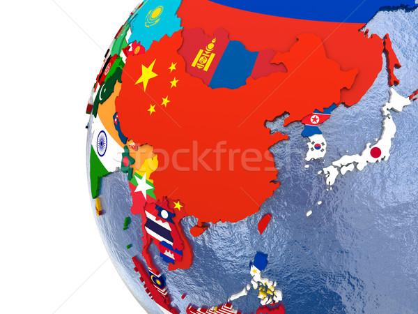 Siyasi Asya harita ülke model dünya Stok fotoğraf © Harlekino