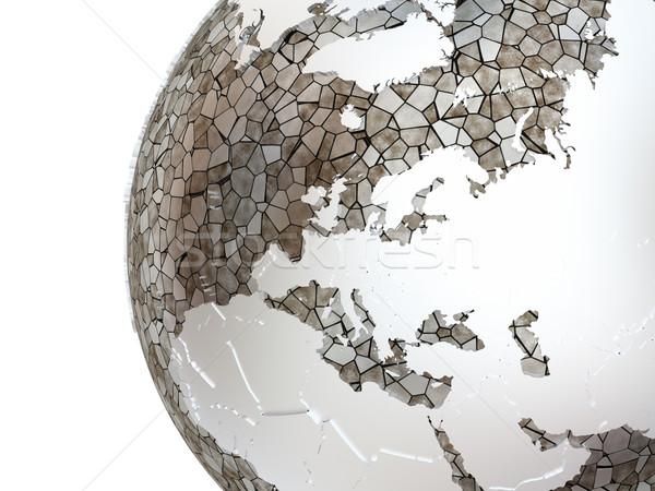 Европа полупрозрачный земле металлический модель планете Земля Сток-фото © Harlekino
