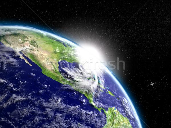 Stockfoto: Zonsopgang · orkaan · boven · Florida · USA