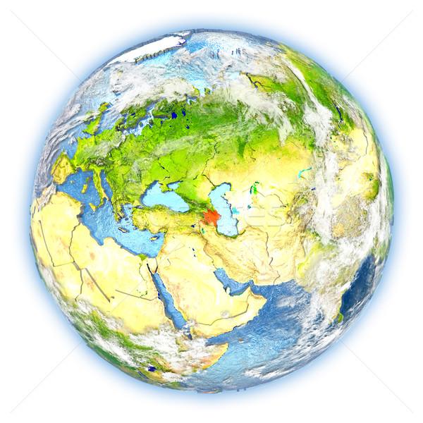 Azerbajdzsán Föld izolált piros Föld 3d illusztráció Stock fotó © Harlekino