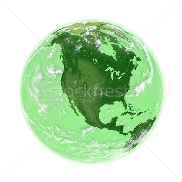 север Америки зеленый земле планете Земля изолированный Сток-фото © Harlekino