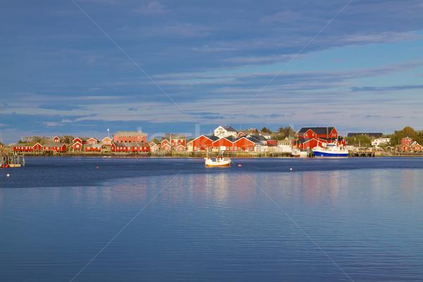 Fishing port in Reine Stock photo © Harlekino