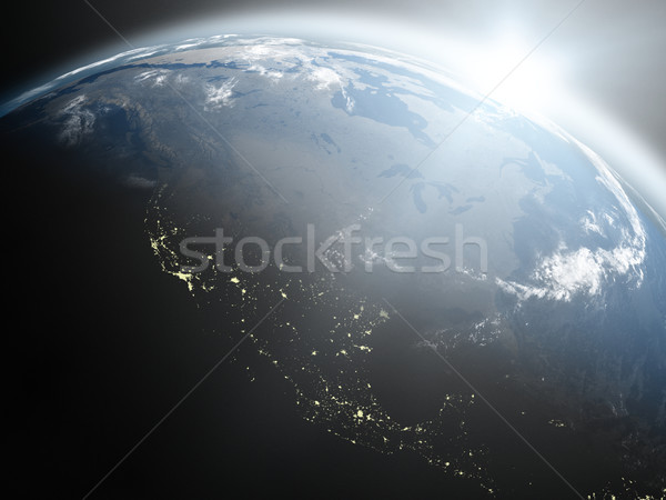 Sunrise over North America Stock photo © Harlekino