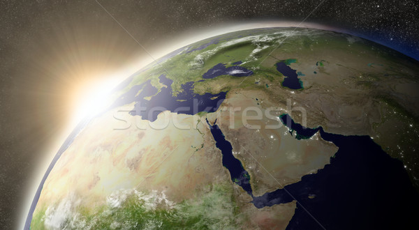 Sun over Middle East Stock photo © Harlekino