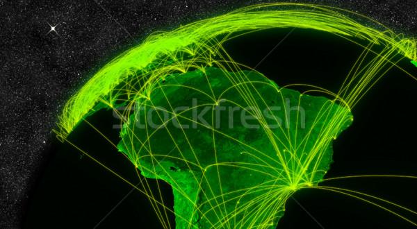 América del sur red tecnología de la información elementos imagen nubes Foto stock © Harlekino