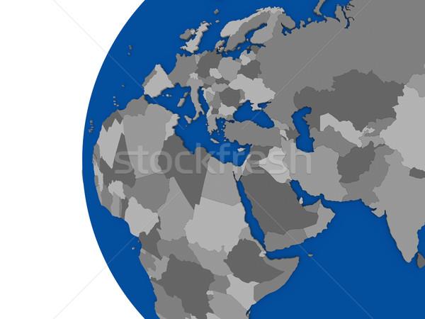 Bölge kıta siyasi dünya örnek beyaz Stok fotoğraf © Harlekino