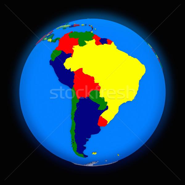 south America on political Earth Stock photo © Harlekino