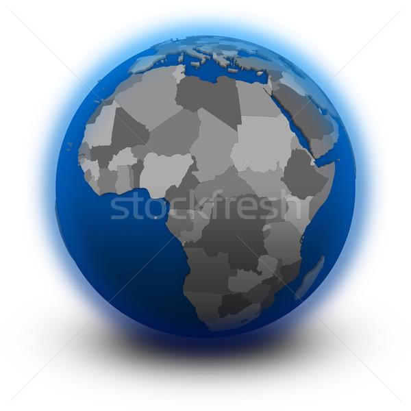 Africa politico mondo illustrazione isolato bianco Foto d'archivio © Harlekino