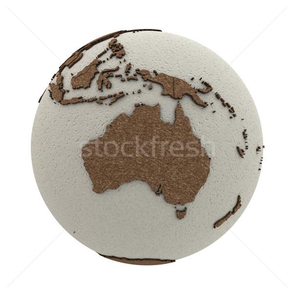 Australia on light Earth Stock photo © Harlekino