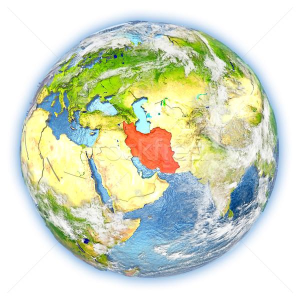 İran toprak yalıtılmış kırmızı dünya gezegeni 3d illustration Stok fotoğraf © Harlekino