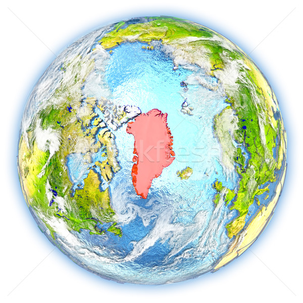 地球 孤立した 赤 地球 3次元の図 白 ストックフォト © Harlekino