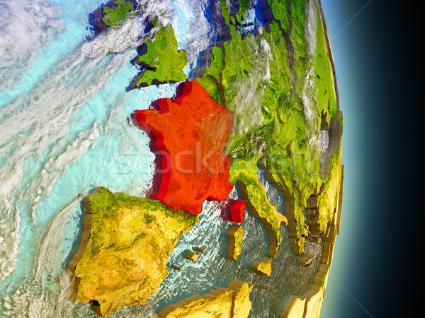 France in red from space Stock photo © Harlekino
