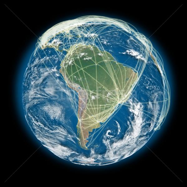 Мир Южной Америке мнение планете Земля Сток-фото © Harlekino