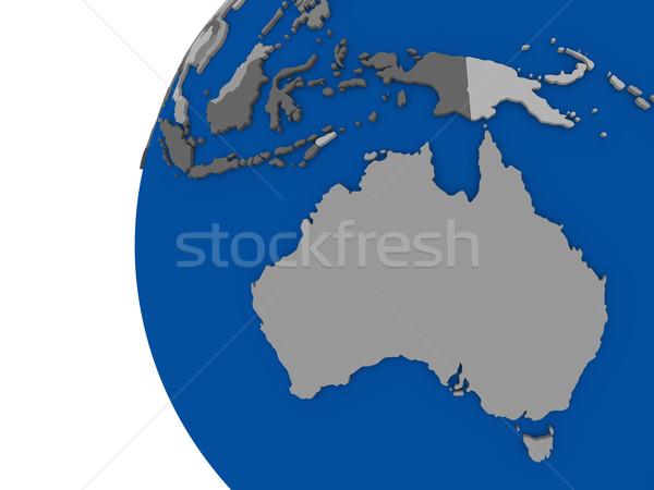 Australian continent on political globe Stock photo © Harlekino