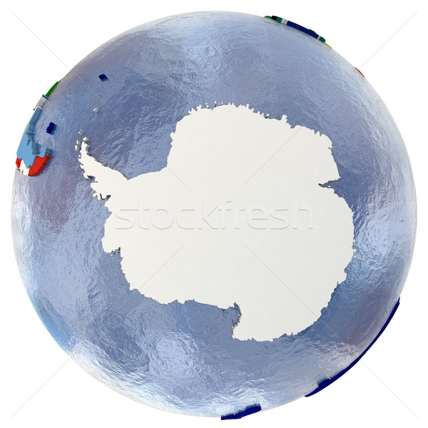 Political Antarctica map Stock photo © Harlekino