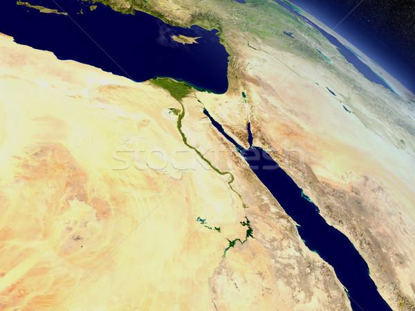 Egito espaço região ilustração 3d Foto stock © Harlekino