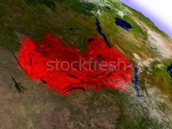 Замбия пространстве красный орбита 3d иллюстрации Сток-фото © Harlekino