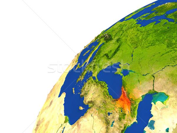 Country of Georgia satellite view Stock photo © Harlekino