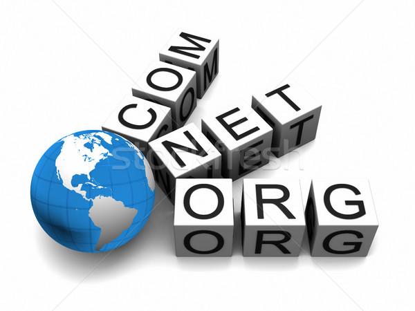 Internetowych świecie odizolowany biały elementy obraz Zdjęcia stock © Harlekino