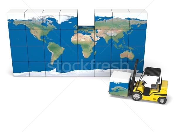 Internationaux logistique modernes jaune Photo stock © Harlekino