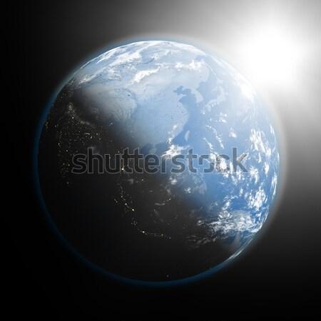 Nascer do sol sudeste da Ásia espaço ver sol Foto stock © Harlekino