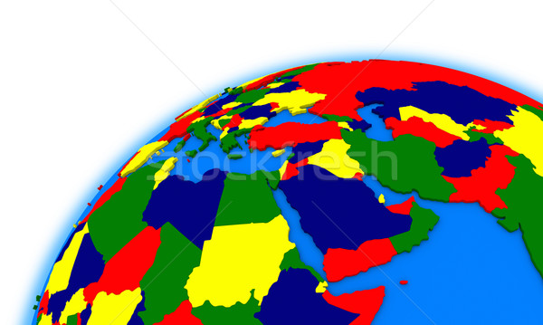 middle east region on globe political map Stock photo © Harlekino