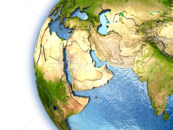 Közel-Kelet Föld kontinensek vidék keretek elemek Stock fotó © Harlekino