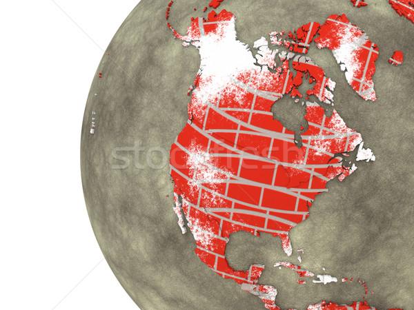 Nord Amérique mur de briques terre modèle planète terre Photo stock © Harlekino