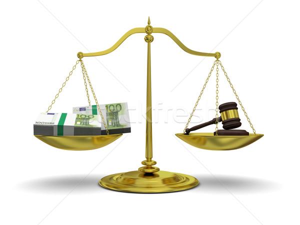 Сток-фото: прибыль · правосудия · масштаба · изолированный