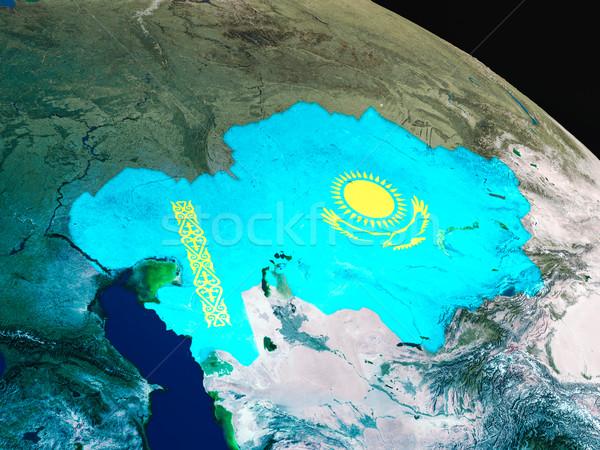 флаг пространстве орбита 3d иллюстрации подробный Сток-фото © Harlekino