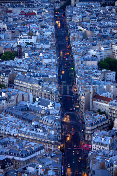 Lights of boulevard Saint Michel Stock photo © Harlekino