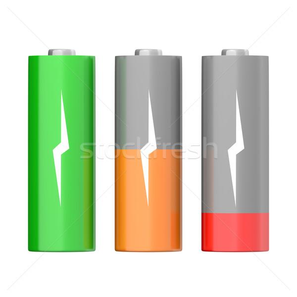 Battery symbols Stock photo © Harlekino