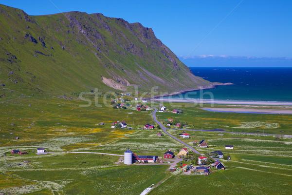 Norweski w. widok z lotu ptaka sceniczny Norwegia Zdjęcia stock © Harlekino