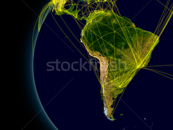 South America connections Stock photo © Harlekino