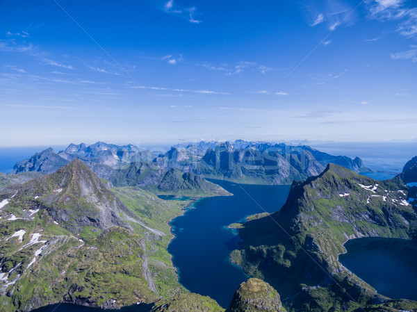 Scenic Lofoten Stock photo © Harlekino