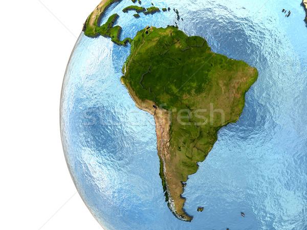 Dél-amerika Föld rendkívül részletes Föld kontinensek Stock fotó © Harlekino