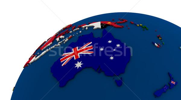 Political Australia map Stock photo © Harlekino