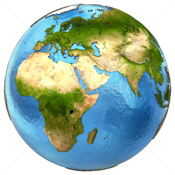 Stock photo: African and European continents on Earth