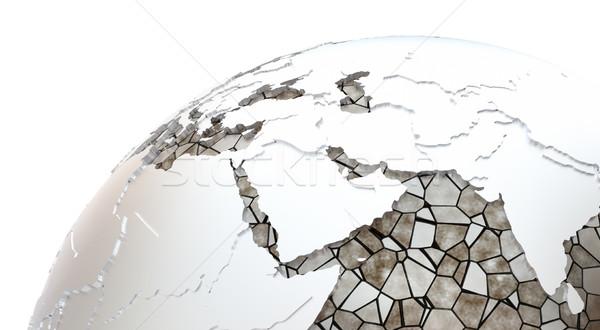 Midden oosten aarde regio metalen model Stockfoto © Harlekino