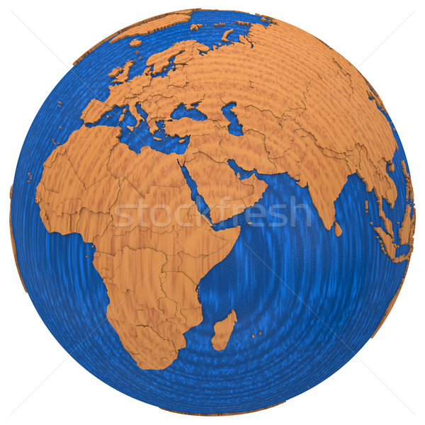 Africa on wooden Earth Stock photo © Harlekino