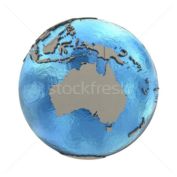 Australien Modell Planeten Erde 3D blau Erde Stock foto © Harlekino